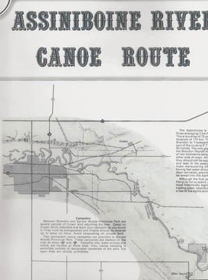 assiniboine valley historical canoe map