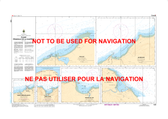 Plans-Péninsule de la Gaspésie Canadian Hydrographic Nautical Charts Marine Charts (CHS) Maps 1230