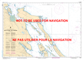 Thetis Island to/à Nanaimo Canadian Hydrographic Nautical Charts Marine Charts (CHS) Maps 3443