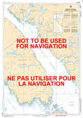 Principe Channel Southern Portion/Partie Sud Canadian Hydrographic Nautical Charts Marine Charts (CHS) Maps 3984
