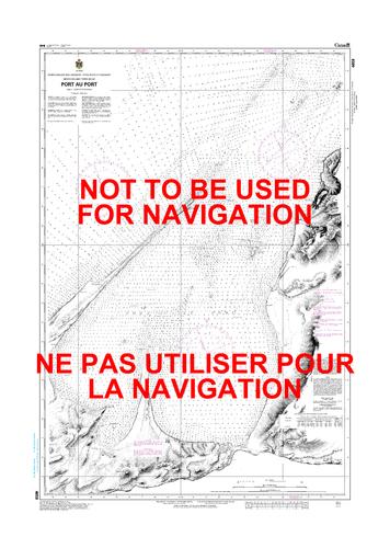Port au Port Canadian Hydrographic Nautical Charts Marine Charts (CHS) Maps 4659