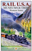 Railway Map Western USA