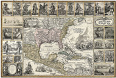 THE GOLDEN AGE OF PIRATES: Historic Art Map Poster