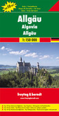 "Allgäu ""Top 10 Tips"" Map in Freytag & Berndt's series of detailed road maps at 1:150,000 covering Germany's popular holiday areas, each with a booklet with street plans, an index and descriptions of 10 selected places of interest, all prominently highlighted on the maps. The map includes street plans of central Bad Waldsee, Friedrichshafen, Kempten, Memmingen, Ravensburg in Germany and Bregenz in Austria.   Relief is portrayed by hill-shading without distracting from other detail. Although these maps are using the same cartography as the publishers' 1:200,000 regional series, better scale and colouring make minor local roads and motorway junctions stand out more clearly. Road information includes intermediate driving distances, toll routes, scenic roads and tourist routes, steep gradients, caravan traffic restrictions, seasonal closures on mountain roads, etc. Railways, cable cars, ferries and airfields are also shown. Selected cycle routes and long distance hiking trails are included.   Picturesque towns are highlighted and in each title 10 selected places of interest are prominently marked and briefly described in the index booklet attached to the map cover. The booklet also provides street plans main towns in the region. Symbols mark various landmarks, places of interest and facilities, e.g. selected hotels, campsites, historical and architectural sites, etc. Latitude and longitude lines are drawn at 10' intervals. Map legend and the descriptions include English."
