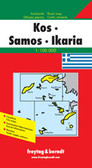 Kos Samos Ikaria Travel Map
