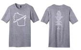 T-shirt: Youth grey, Oui!sconsin (2014)