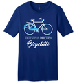 T-shirt: Bicyclette Heather Blue
