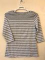 T-shirt: Women's striped - white/grey (2019)