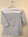 T-shirt: Women's striped - white/black (2019)