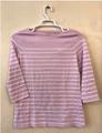 T-shirt: Women's striped - white/pink (2019)