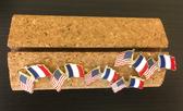 US France lapel pins