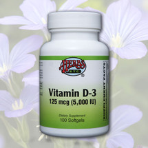 Vitamin D-3 (125 mcg - 5,000 IU) Softgels 100 ct.