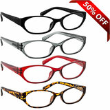 Cat Eye Reading Glasses Value 4 Pack