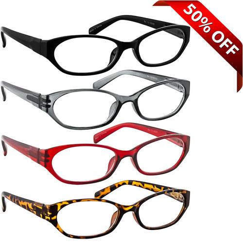 Cat Eye Reading Glasses Value 4 Pack