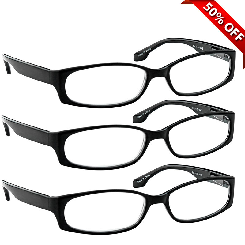 7bf04821e24 Brookside Reading Glasses Value 3 Pack Black