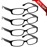Brookside Reading Glasses 4 Pack Black