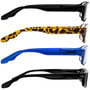 4 Pack Readers Black Tortoise Blue Sun