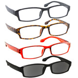 4 Pack Readers Black Tortoise Red Sun