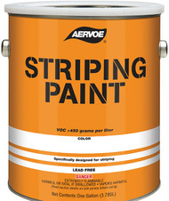 Aervoe Solvent-Based Striping Paint, 1 Case of 2 Gallons