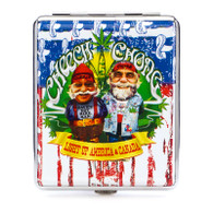 "Cheech & Chong Deluxe Cigarette Case  - 100mm ""USA Weed"""