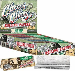 "Cheech and Chong Rolling Papers - Hemp 1 1/4"" size"