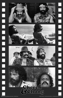 "Cheech & Chong Black & White Film Strip Collage & Logo Mini Poster- 11"" x 17"""