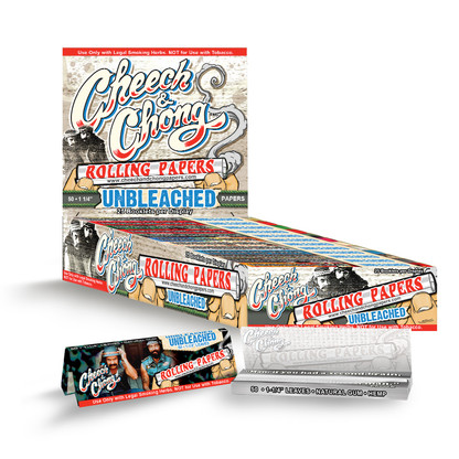 "Cheech and Chong Rolling Papers - Unbleached 1 1/4"" size"