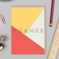 'Thanks' Text Card