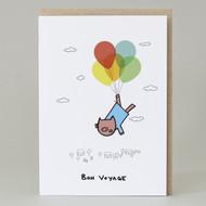 Pig 'Bon Voyage' Card