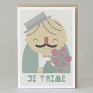 'Je taime' Card