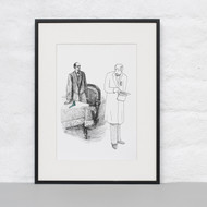 """""""He turned his rounded back upon me"""" Ltd Ed Print"""