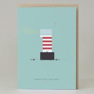 Lighthouse Age 1: Birthday Card