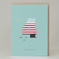 Lighthouse Age 4: Birthday Card