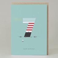 Lighthouse Age 7: Birthday Card