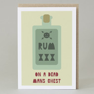 """""""On A Dead Man's Chest"""" Pirate Card"""