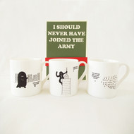 """""""Set of Three I Should Never Have Joined The Army Mugs"""