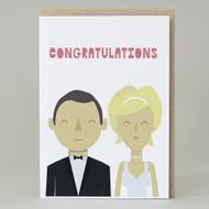 """Wedding Congratulations' Card"