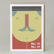 'Roll Up, Roll Up' Circus Card
