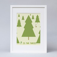 'F For Forest' Print