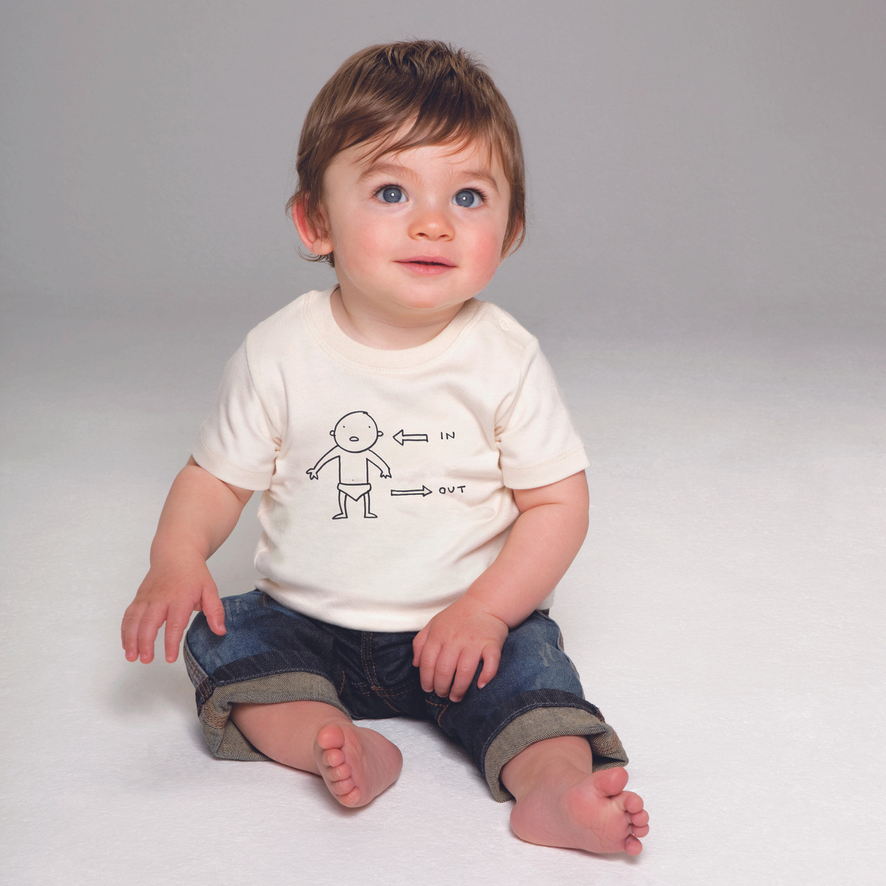 037f23cd1 'In/Out' Fair Trade Baby Tshirt. Your Price: £8.00 (You save £4.50). Image 1