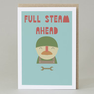 'Full steam ahead' Card