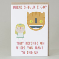 'Cheshire Cat' Card