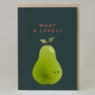 """What a lovely pear""Card"
