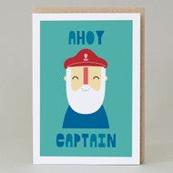 'Ahoy Captain' Birthday Card