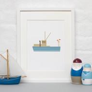 ALOTOW: Boat Print I