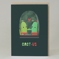 """Cact-I + Cact-You = Cact-Us"" Card"