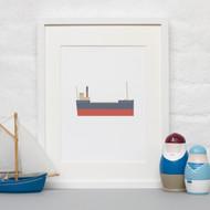 ALOTOW: Boat Print III