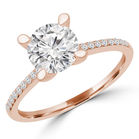 Round Multi-stone Engagement Ring in Rose Gold - #ISLA-R