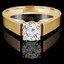 Round Cut Diamond Solitaire Cathedral-Set High-Set 4-Prong Engagement Ring in Yellow Gold - #323L-Y
