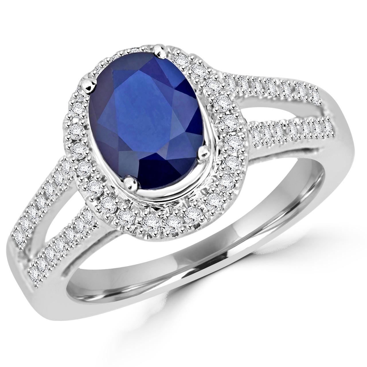 dd76452e7afb9 Oval Cut Sapphire Ring | Bijoux Majesty